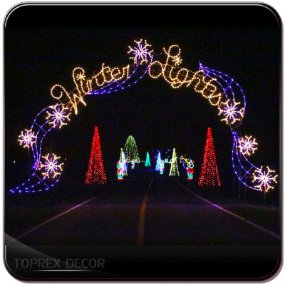 led giant arch outdoor christmas light decoration