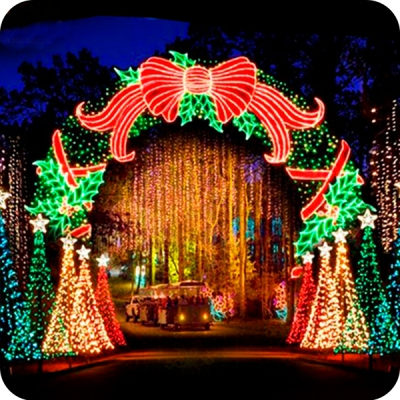 Outdoor christmas decorations wedding arches lights