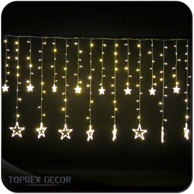 Dripping Christmas Lights.2018 Room Decoration Led Twinkle Christmas Icicle Curtain