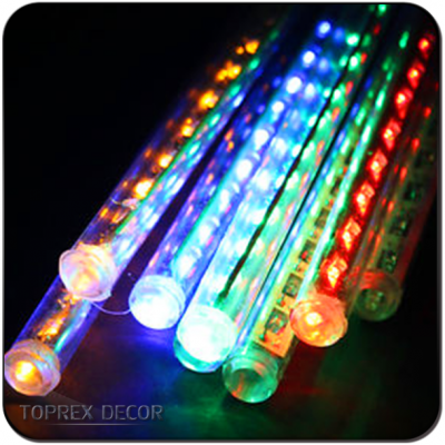 led rain drop christmas lights tube meteor lighting for tree decoration
