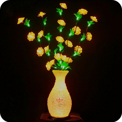 Wholesale Wedding Table Centerpieces Led Flower Vase Light Shenzhen