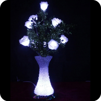 Wedding table centerpieces led flower vase light : light up flowers in vase - startupinsights.org